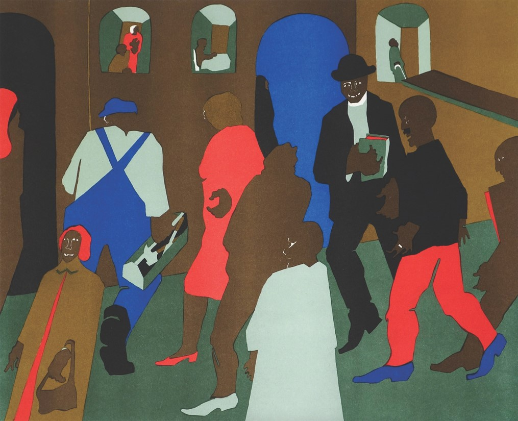 Lithograph by Jacob Lawrence