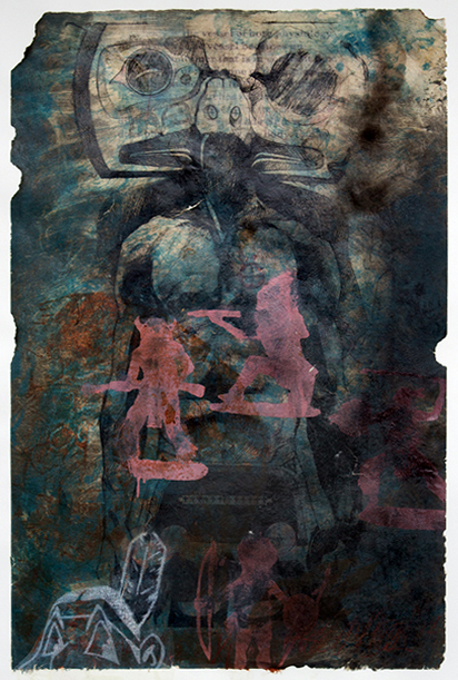 Keegan Adams, Identity, mixed media print
